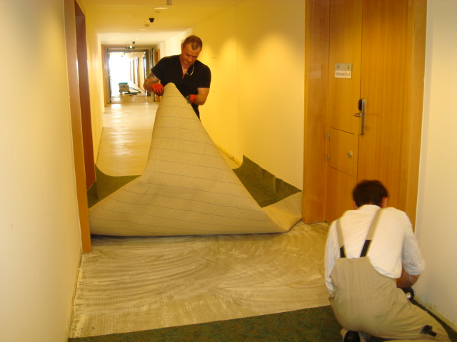 Teppichverlegung